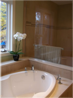 tub glass wall