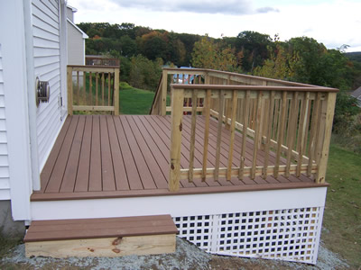 deck painted