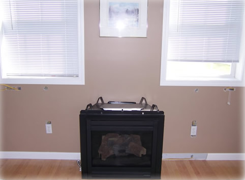 ruffedin gas fireplace installation