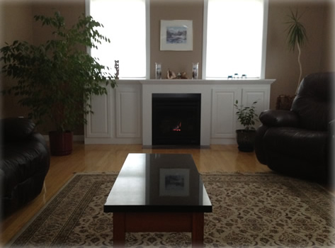 finished gas fireplace installtion