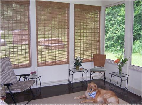 new porch interior